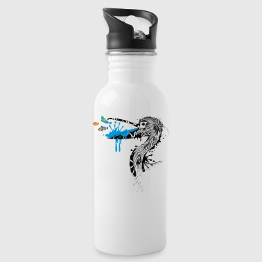 Pelican with fish in its beak - Water Bottle