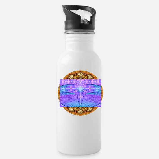 Blue Mugs & Drinkware - Deep Dream Visions - Water Bottle white