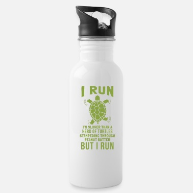 Slow Turtles Stampeding Peanut Butter Run Graphic - Water Bottle