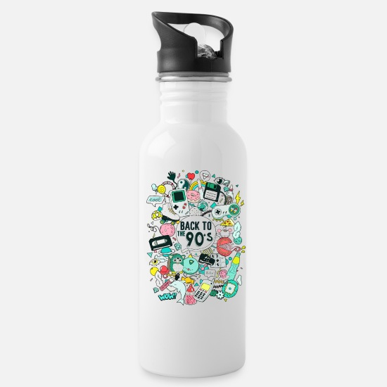 Birthday Mugs & Drinkware - Back to the 90_s - Water Bottle white