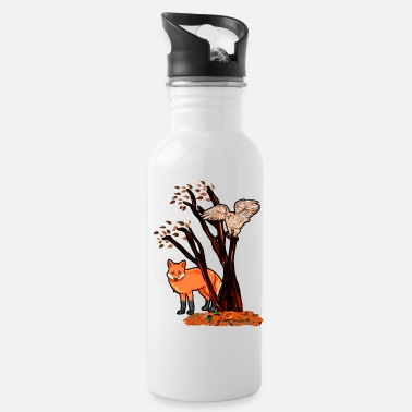 Tree fox eagle tree autumn - Water Bottle
