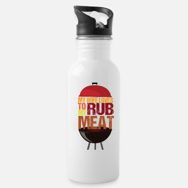 Glut My wife loves to rub my meat - Water Bottle