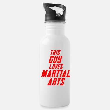 This guy loves martial arts - Water Bottle