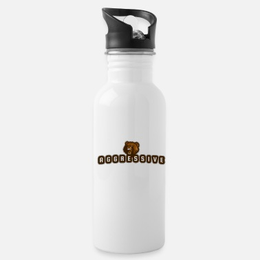 Aggressive aggressive bear - Water Bottle
