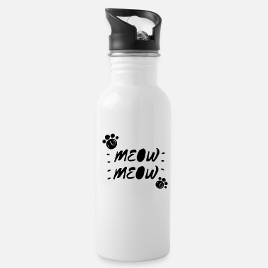 Quotes Meow Quote, Funny Cat Quote - Water Bottle