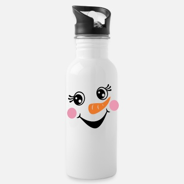 Snowman Funny Snowman Face Christmas Shirt - Water Bottle