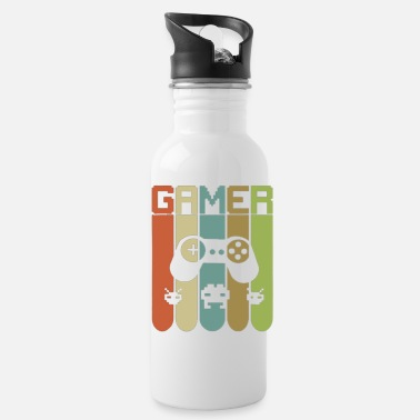 Game GAMER Vintage Retro Style - Game Nerds Gift Ideas - Water Bottle