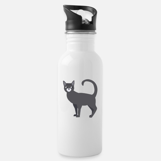 Birthday Mugs & Drinkware - Favourite human cat Cat Love - Water Bottle white