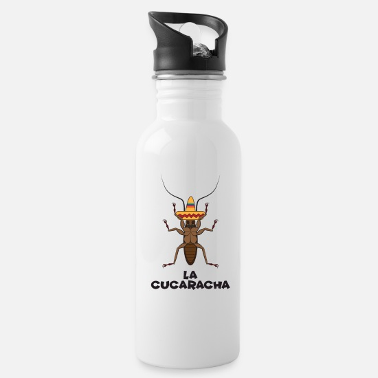 Mexico Mugs & Drinkware - La Cucaracha Novelty Mexican Cockroach - Water Bottle white