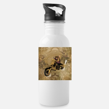 Funny mouse on a motorcycle - Water Bottle