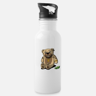 Rich Teddy Bear Rick Gold Money - Water Bottle