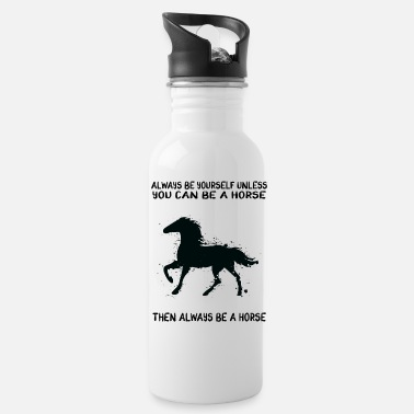 Running Horse Gifts Quote - Water Bottle
