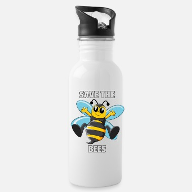 Meadows Bees Beekeeper Bee Natur Funny Cute Save The Gift - Water Bottle