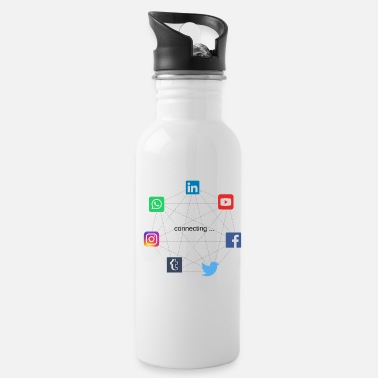 Social Network connecting social networks - Water Bottle