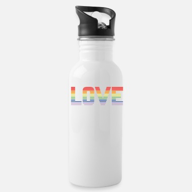 Same Sex Love same sex colorful present lesbian gay - Water Bottle