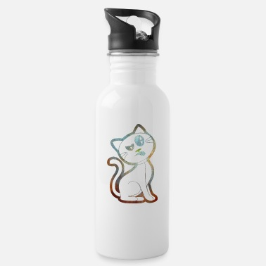 Skeptic Cat looks skeptical transparent - Water Bottle