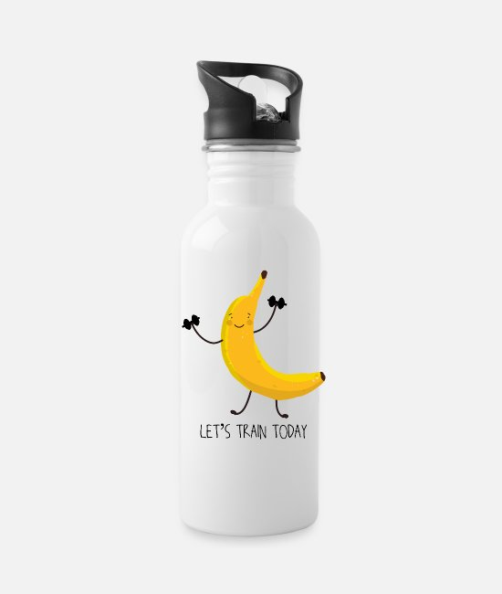 Training Mugs & Cups - Let´s train today - Water Bottle white