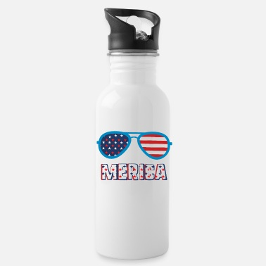 Sunglasses Merica Sunglasses Patriotic USA Flag 4th of July - Water Bottle