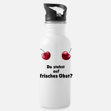 Quote Kirschen / Cherry breast - frisches Obst - Water Bottle