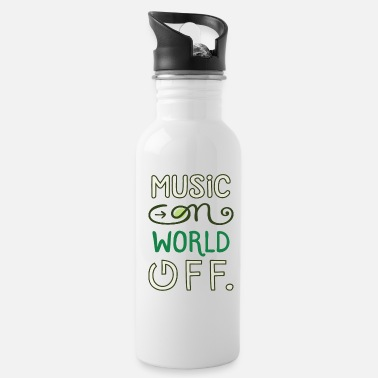 Music Video Music on world off design for music fans - Water Bottle