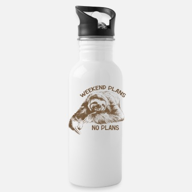 Plan Weekend Plans No plans Sloth - Water Bottle