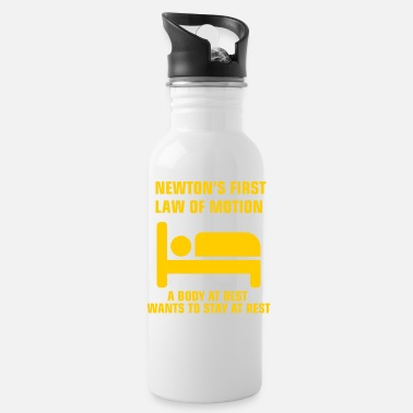 High School Newton's First Law of Motion funny physics gift - Water Bottle
