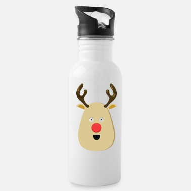 Rudolph the Red Nose Reindeer for Christmas - Water Bottle