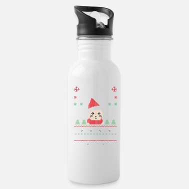 Meowe Purr Cat Christmas Xmas - Water Bottle