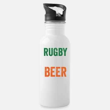 Beer Rugby And Beer Funny Alcohol St Patricks Day - Water Bottle