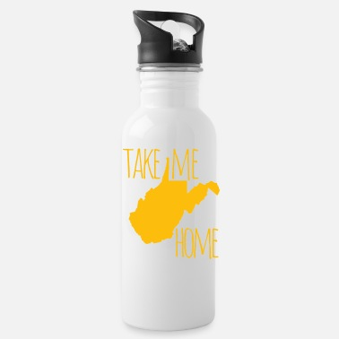 Home Is West Virginia West Virginia Take Me Home Shirts Gifts - Water Bottle