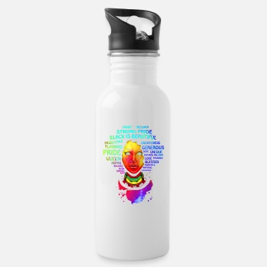 Afro Afro Educated Black Queen - Water Bottle