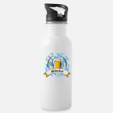 munich german beer party bavaria flag tent drink l - Water Bottle