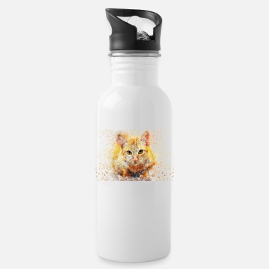 Fur Red House Cat - Water Bottle