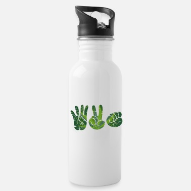 Bong 420 Stoned Hands Gangster Gift - Water Bottle