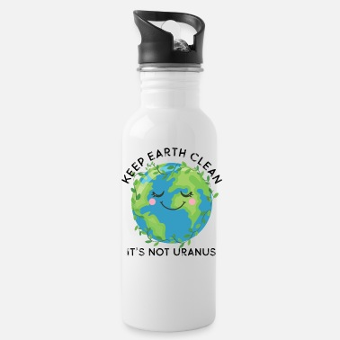 Decoration Happy Earth Day Keep Earth Clean Funny Uranus Scie - Water Bottle