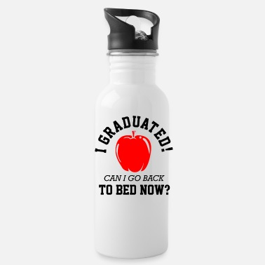 Grade Class Of 2021 Graduated To Bed Now Funny Graduatio - Water Bottle