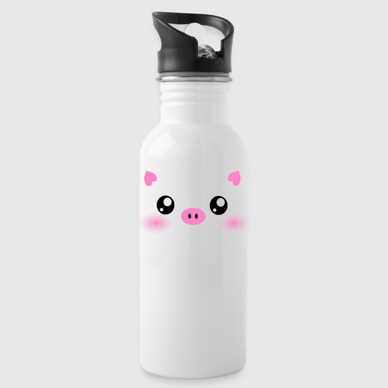 Cute Kawaii Pig face - Water Bottle