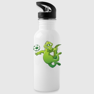 Crocodile Heading a Soccer Ball - Water Bottle