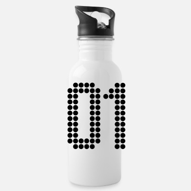Number 01, Numbers, Football Numbers, Jersey Numbers - Water Bottle