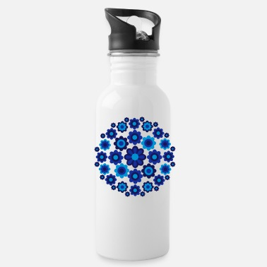 Cheerful Madness Floral Wheel by Cheerful Madness!! - Water Bottle
