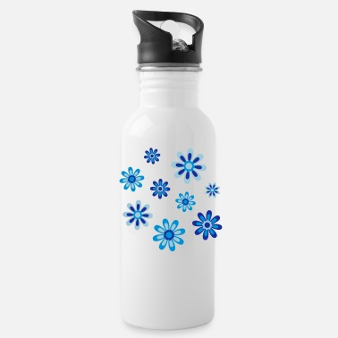 Cheerful Madness Floral Fantasy by Cheerful Madness!! - Water Bottle