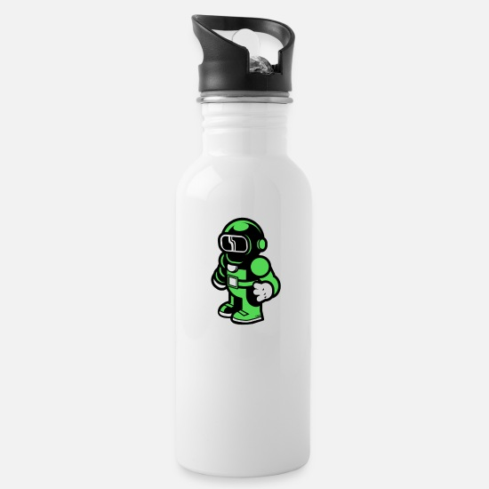 New Mugs & Drinkware - The Modern Spaceman - Water Bottle white