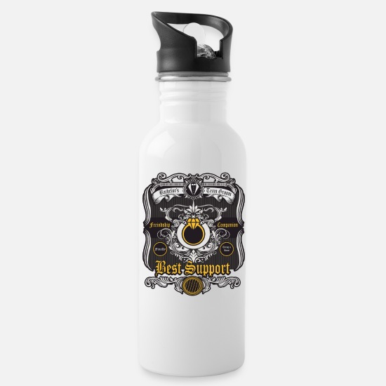 Funny Mugs & Drinkware - Bachelorsparty Gift Idea Celebrate Bride Groom - Water Bottle white