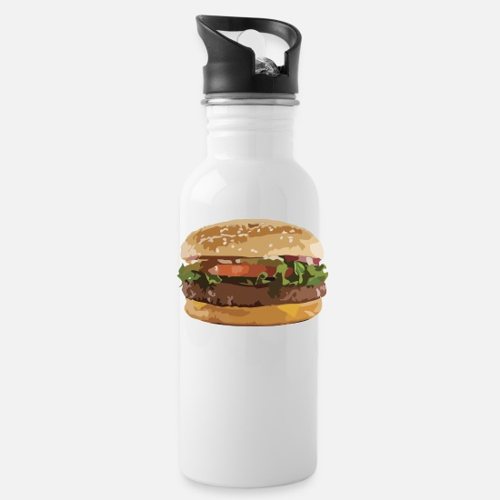 Fast Mugs & Drinkware - Burger - Water Bottle white