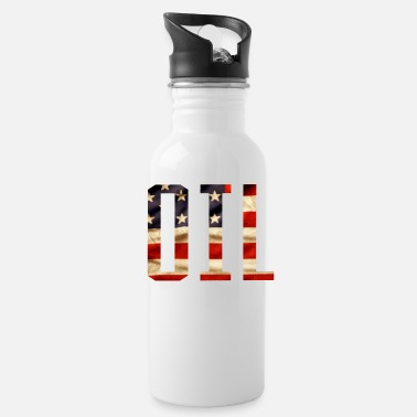 Patriotic Oil Design - Water Bottle