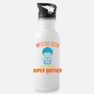 Brother Sister superhero siblings - Water Bottle