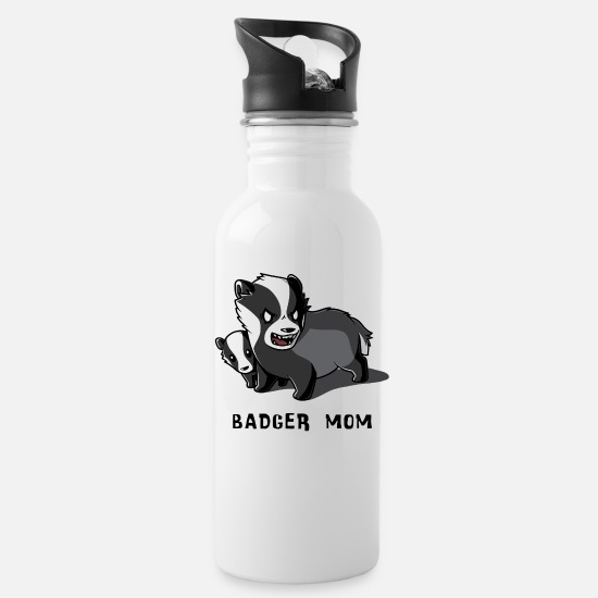 Movie Mugs & Drinkware - Badger Mom - Water Bottle white