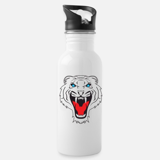 Tiger Shark Mugs & Drinkware - White Tiger - Water Bottle white