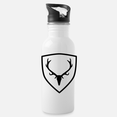 Antler coat of arms with antlers - Water Bottle