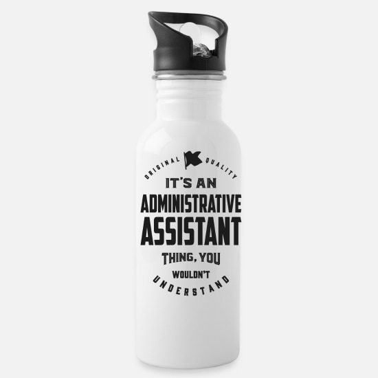 Assistant Mugs & Drinkware - Administrative Assistant - Water Bottle white
